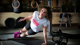 тренировка, девушка, фитнес