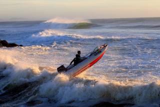 екстрім, відпочинок, океан, човен, хвилі