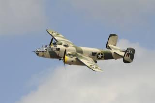 середній, двомоторний, B-25, Північноамериканський, mitchell, американський
