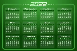 2022, календар