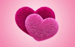 fluffy, Любовь, сердца, пушистые, Любовь, сердечки, розовый