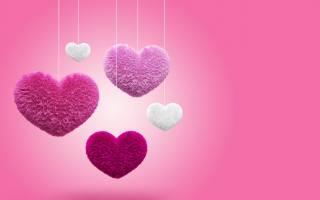 fluffy, Любовь, сердца, пушистые, Любовь, сердечки, на, ниточках