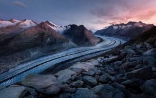 заморожені, дорога, Швейцарія, гори, захід, природа, зима, лід, каміння