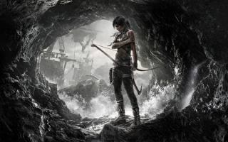 лара, крофт, дівчина, персонаж, дощ, печера, кораблі, море