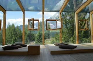 bathroom, interior, window, landscape