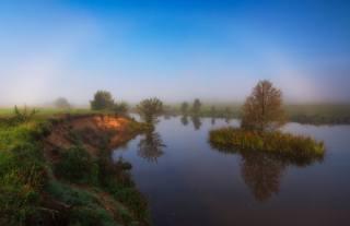 září, říčka, krajina, foto, Андрей Олонцев