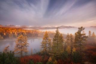 podzim, krajina, hory, foto, Ирина Абатурова