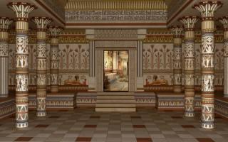 Egypt, the temple, interior
