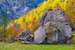 Швейцарія, гори, осінь, каміння, Ticino, дерева, альпи, природа