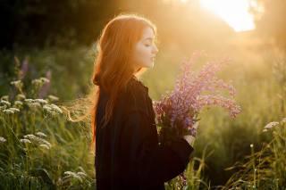 лето, девушка, цветы, красиво, фотограф, Саша Елян