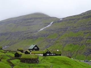 горы, поселок, пейзаж