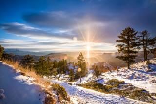 краєвид, природа, сніг, зима