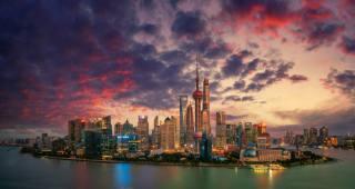 Шанхай, ніч, вогні