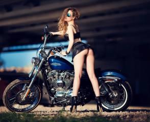 мотоцикл, дівчина