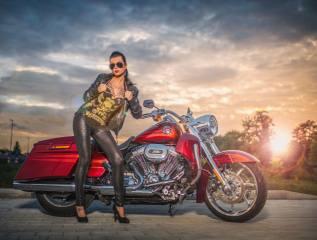 мотоцикл, байк, девушка