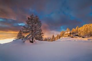 Italy, Пьемонт, winter, snow, Alps