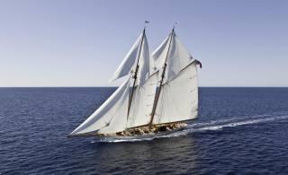 вітрильник, океан, вітер