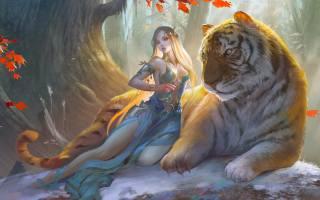 тигр, ельф, фентезі
