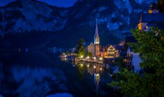 Hallstatt, Австрія, місто, mountain high