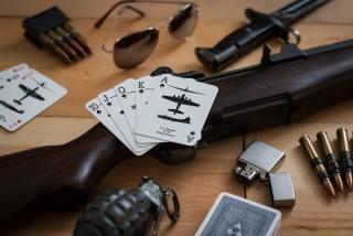 гвинтівка, Garand M1, М1, патрони, карти, запальничка, очки, штык, граната, на столі, Гаранд М1, друга світова, обойма