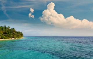 the ocean, landscape, the sky