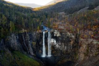 осінь, водоспад