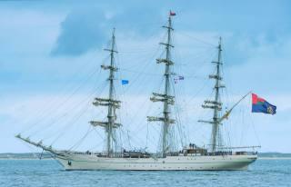 вітрильний, корабель, учебный