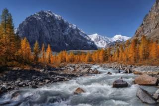 осінь, гори, річка, фото, Николай Шевченко