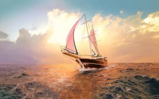 moře, romance, plavba, jachta, plachty, slunce