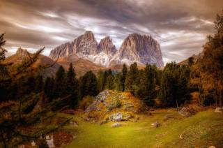 Alpy, dolomity, krajina
