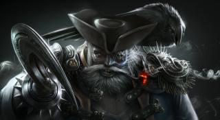 pirát, háček, prohlížel, vousy, klobouk, Raven