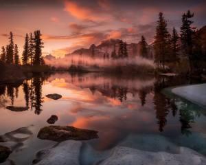 sunset, the lake, photo, Ирина Абатурова