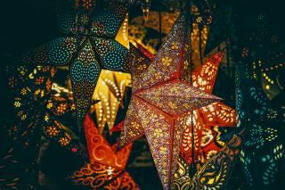 Різдвяні вогні, зірки, Новогоднее украшение