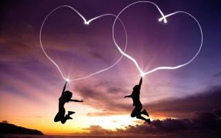 Любов, серця, стрибок, Любов, хлопчик, end, дівчина, серця, краєвид, море, захід