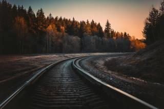 railway, the way, autumn