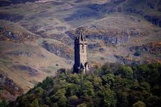 Шотландія, гори, Wallace, monument, Stirling, Stirling, дерева, башта, природа
