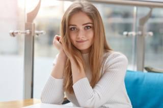 дівчина, модель, погляд