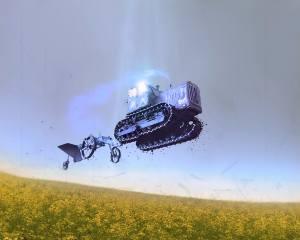 трактор, політ, гумор