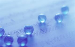 glass, balls, light, Blue, туманные