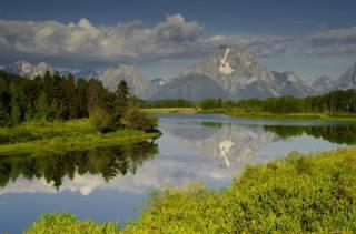 гори, річка, зелень