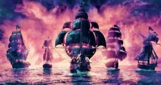 вітрильники, пірати, бійка, море