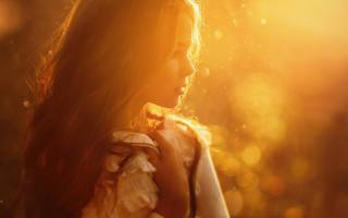 промені сонця, дівчинка