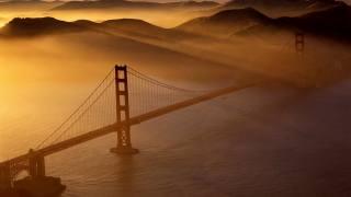 міст, промені сонця