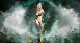 fantasy, postava, anděl