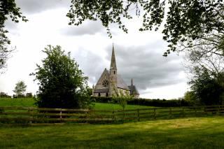 Ірландія, церква, Ballyclog, трава, паркан, гілки, місто