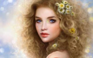 girl, blonde, blue eyes