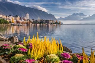 монтрё, місто, Швейцарія, озеро, женевское