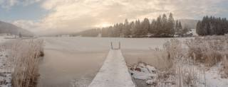 Alps, the lake, winter, mountains, beautiful