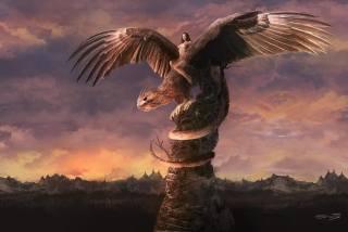 черти-что, monstrum, мантикора, смесь грифона, skály, всадница, křídla, ocas, Zvíře, Manticora, jezdec, Fantasy