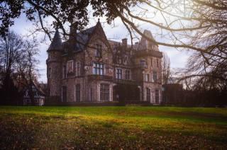 castle, Park, autumn